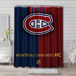Montreal Canadiens NHL Shower Curtain Waterproof Polyester