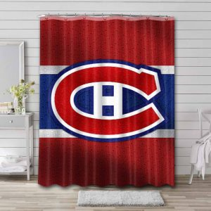 Montreal Canadiens Shower Curtain Bathroom Decoration Waterproof Polyester Fabric.