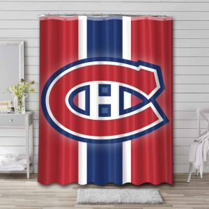 Montreal Canadiens Shower Curtain Waterproof Polyester
