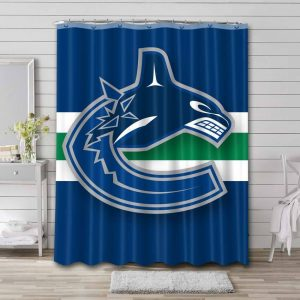 Vancouver Canucks Shower Curtain Waterproof Polyester