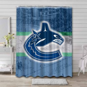 Vancouver Canucks Logo Shower Curtain Waterproof Polyester