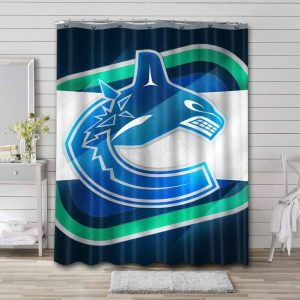 Vancouver Canucks Shower Curtain Bathroom Decoration Waterproof Polyester Fabric.