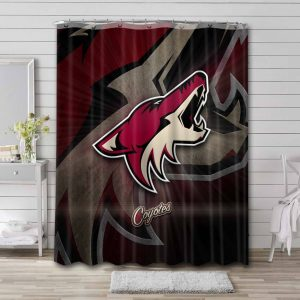 Arizona Coyotes NHL Shower Curtain Waterproof Polyester