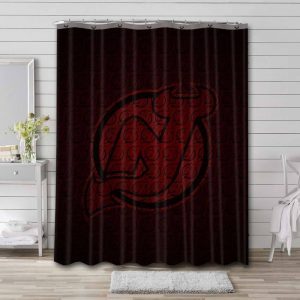 New Jersey Devils Shower Curtain Bathroom Decoration Waterproof Polyester Fabric.