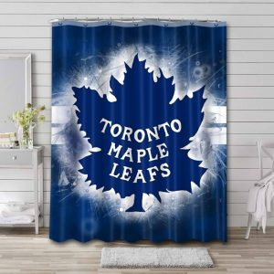 Toronto Maple Leafs Shower Curtain Waterproof Polyester
