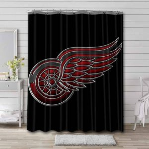 Detroit Red Wings Logo Shower Curtain Waterproof Polyester