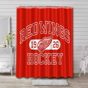 Detroit Red Wings Shower Curtain Bathroom Decoration