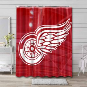 Detroit Red Wings Shower Curtain Waterproof Polyester