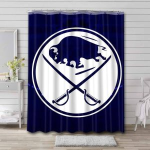 Buffalo Sabres Shower Curtain Waterproof Polyester