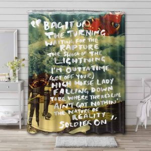 Oasis Dig Out Your Soul Bathroom Shower Curtain Waterproof