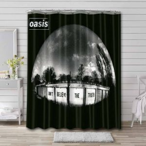 Oasis Don't Believe the Truth Waterproof Shower Curtain Bathroom