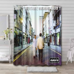 Oasis What's The Story Shower Curtain Bathroom Waterproof