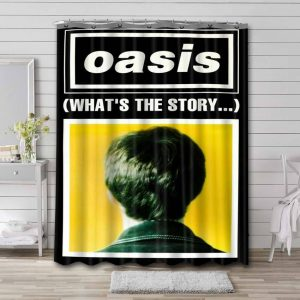 Oasis What's The Story Bathroom Shower Curtain Waterproof