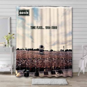 Oasis Shower Curtain Bathroom Decoration Waterproof Polyester Fabric.