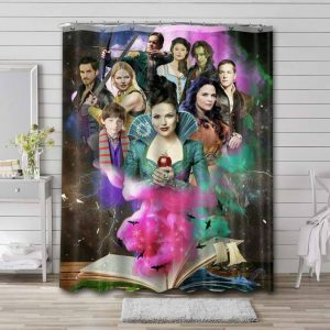 Once Upon a Time TV Series Waterproof Bathroom Shower Curtain