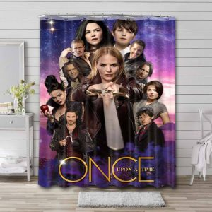 Once Upon a Time TV Series Bathroom Curtain Shower Waterproof