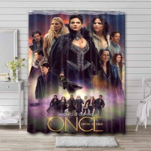 Once Upon a Time TV Series Waterproof Curtain Bathroom Shower