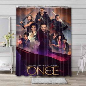 Once Upon a Time TV Series Shower Curtain Bathroom Decoration