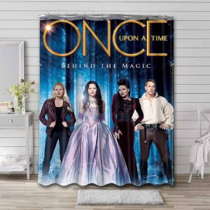 Once Upon a Time Characters Bathroom Shower Curtain Waterproof