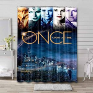 Once Upon a Time Characters Waterproof Shower Curtain Bathroom