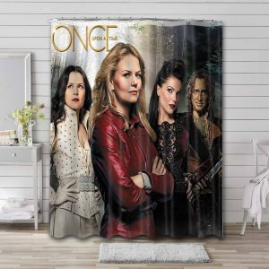 Once Upon a Time Characters Waterproof Bathroom Shower Curtain