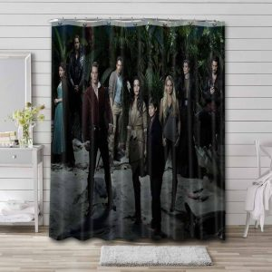 Once Upon a Time Characters Bathroom Curtain Shower Waterproof