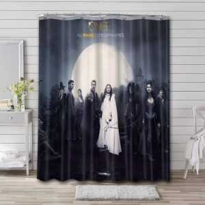 Once Upon a Time Characters Waterproof Curtain Bathroom Shower