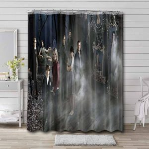 Once Upon a Time Characters Shower Curtain Bathroom Waterproof