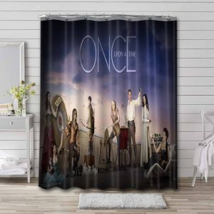 Once Upon a Time Characters Shower Curtain Bathroom Decoration