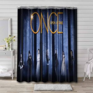 Once Upon a Time Characters Shower Curtain Waterproof Polyester