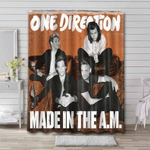 One Direction Made In The AM Bathroom Shower Curtain Waterproof