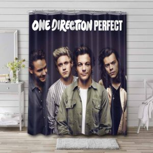 One Direction Perfect Waterproof Shower Curtain Bathroom