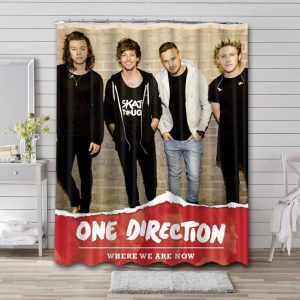 One Direction Where We Are Now Bathroom Curtain Shower Waterproof