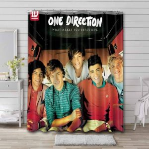 One Direction What Makes You Beautiful Shower Curtain Bathroom Decoration