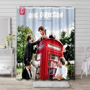 One Direction Take Me Home Shower Curtain Waterproof Polyester