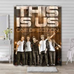 One Direction This Is Us Shower Curtain Waterproof Polyester