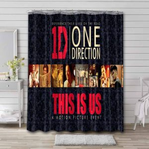 One Direction This Is Us Waterproof Shower Curtain Bathroom