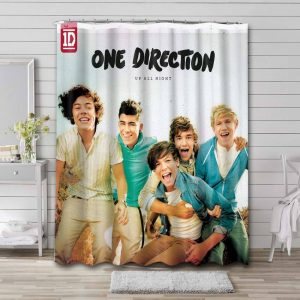 One Direction Up All Night Bathroom Curtain Shower Waterproof
