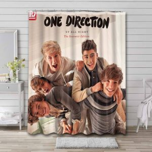 One Direction Up All Night Waterproof Curtain Bathroom Shower