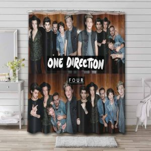 One Direction Four Shower Curtain Bathroom Waterproof