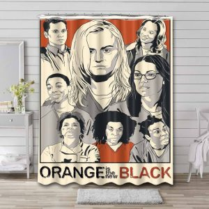 Orange Is the New Black Characters Shower Curtain Bathroom Decoration
