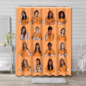 Orange Is the New Black Characters Shower Curtain Waterproof Polyester