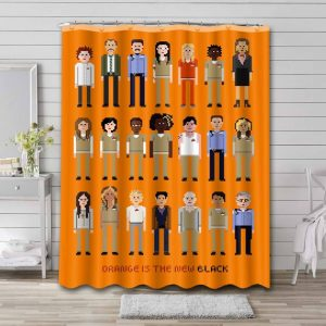 Orange Is the New Black Shower Curtain Waterproof Polyester