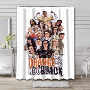 Orange Is the New Black Shower Curtain