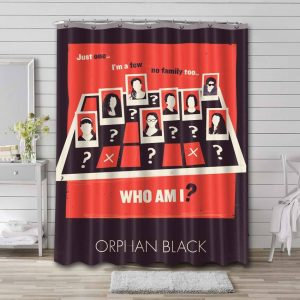 Orphan Black Shower Curtain Waterproof Polyester Fabric