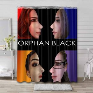 Orphan Black TV Show Shower Curtain Waterproof Polyester Fabric