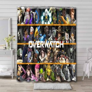 Overwatch Characters Shower Curtain Waterproof Polyester