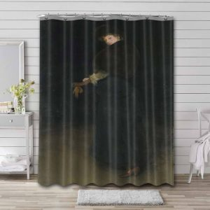 James Abbott McNeill Whistler The Lady in the Yellow Buskin Shower Curtain Bathroom Waterproof