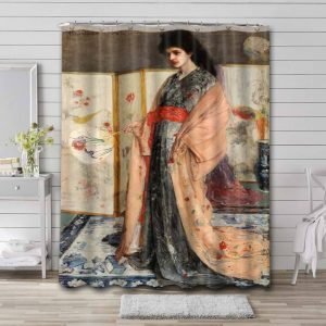 James Abbott McNeill Whistler The Princess from the Land of Porcelain Shower Curtain Bathroom Decoration