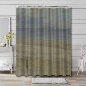 James Abbott McNeill Whistler Harmony in Blue and Silver: Trouville Bathroom Shower Curtain Waterproof